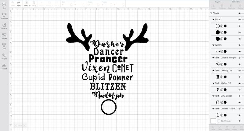Cricut design space design