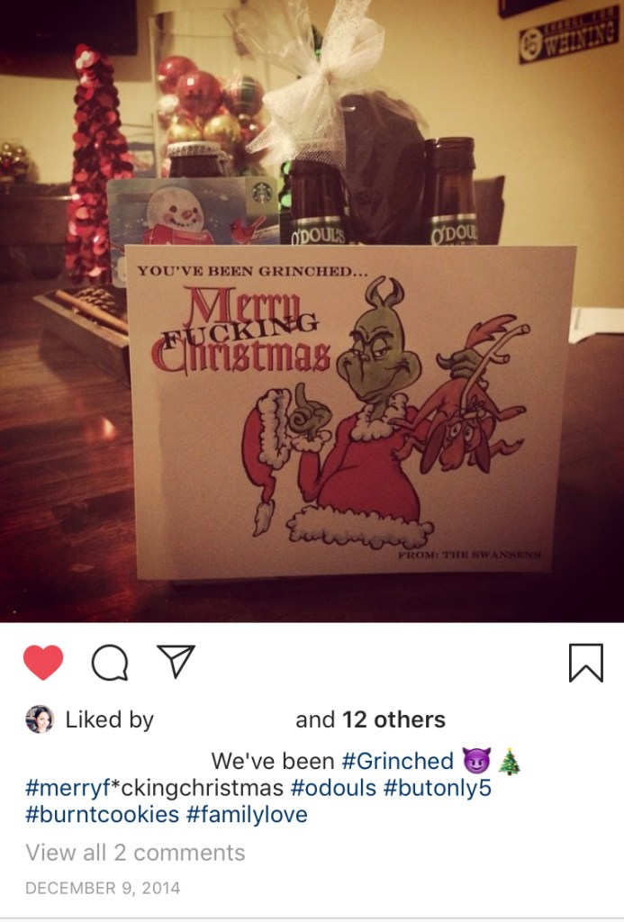 We've been Grinched Instagram post