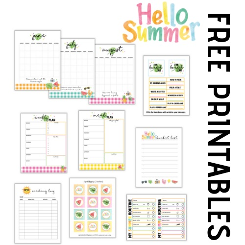 photograph relating to Free Printable Organizing Sheets referred to as Summertime Archives - Sprinkled with Paper