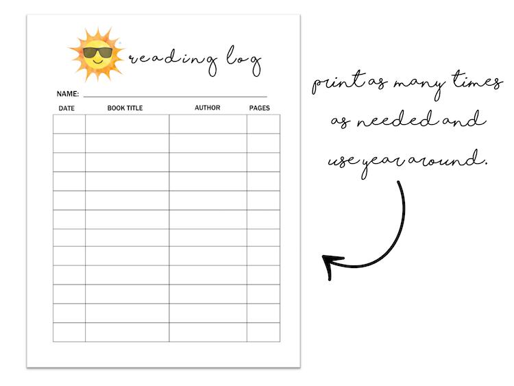 Printable Summer Organization Binder Sheets