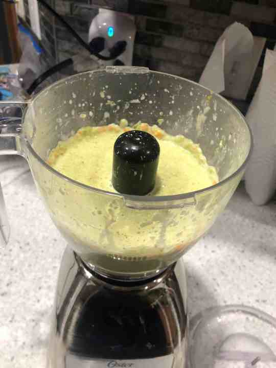 Blend in the blender or food processor.