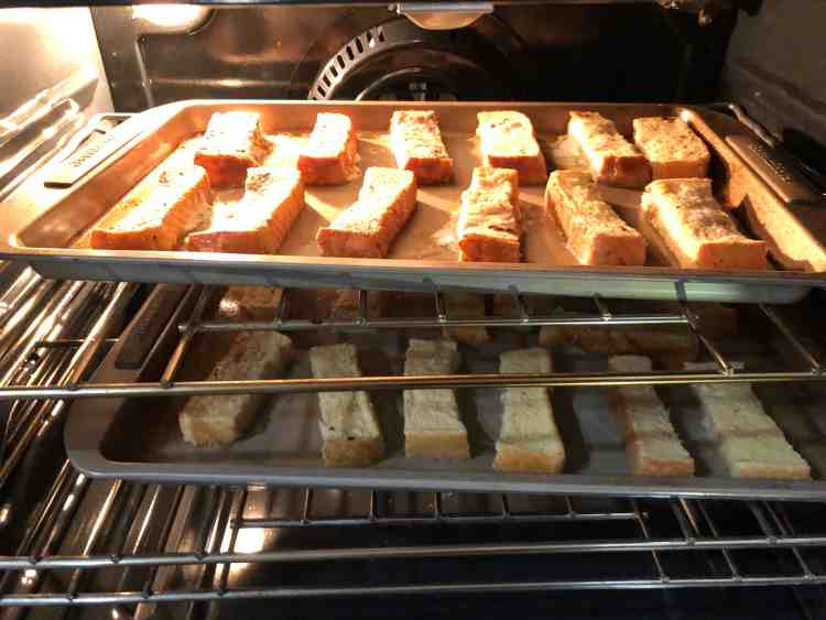 French Toast Sticks Baking