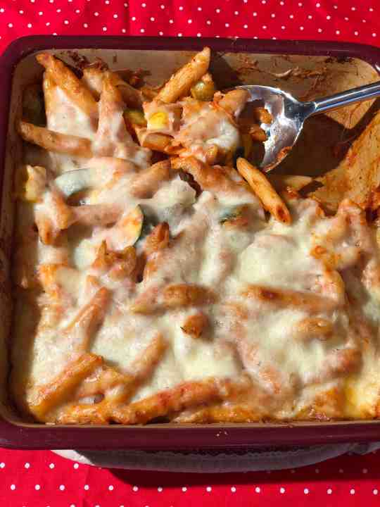 Easy Vegetable Baked Ziti