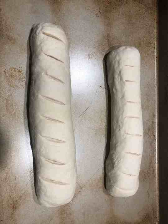 French Bread ready for the freezer