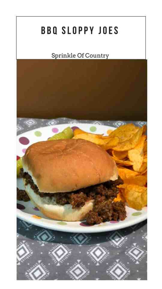 slow cooker BBQ sloppy joes pin