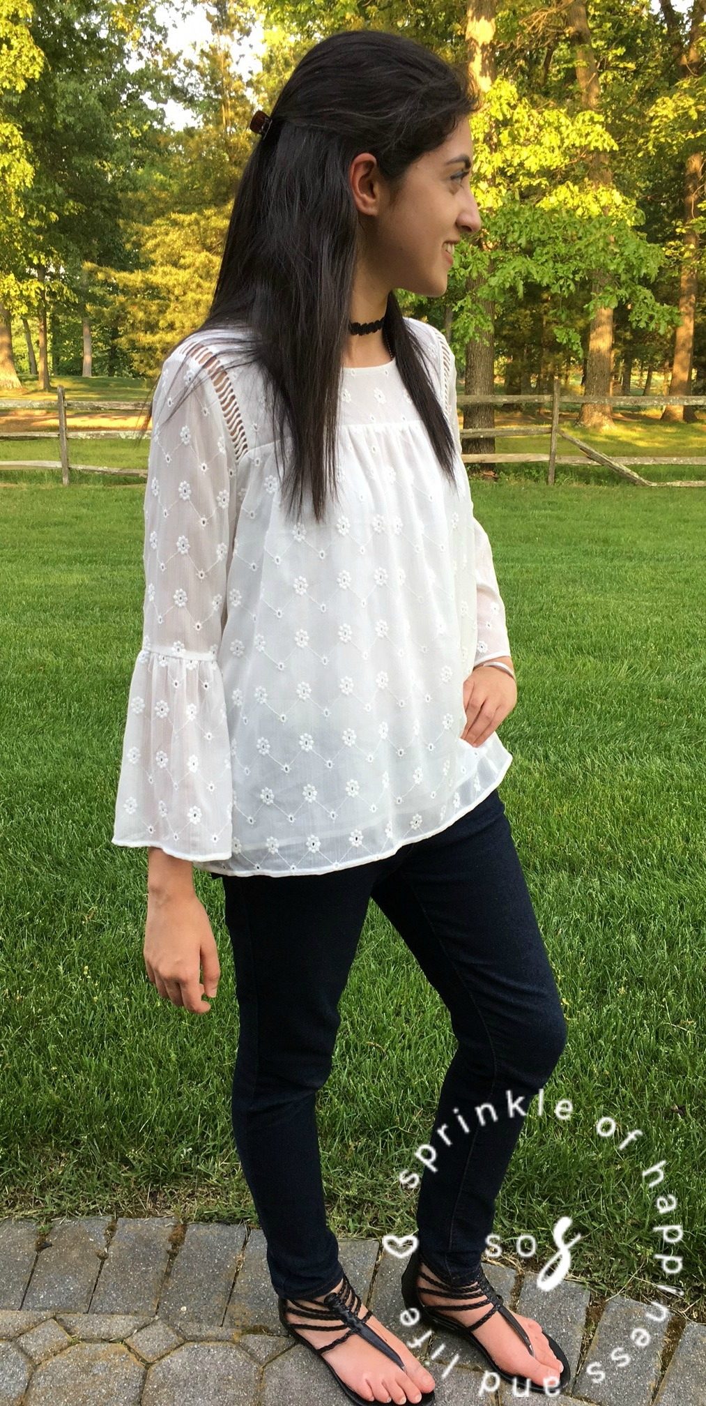 White Lace & Bell Sleeves!