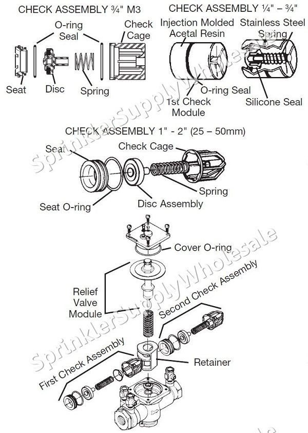 Watts 009M2 Relief Valve Repair Kit 3/4
