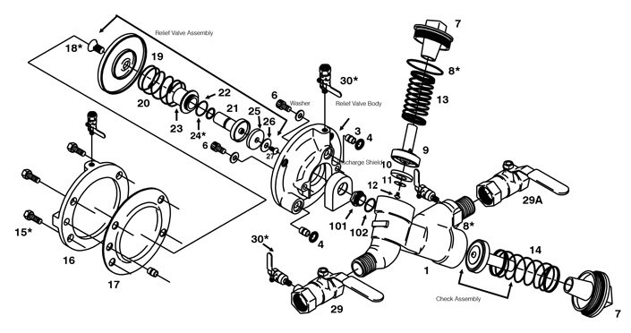 What are some irrigation repair replacement parts