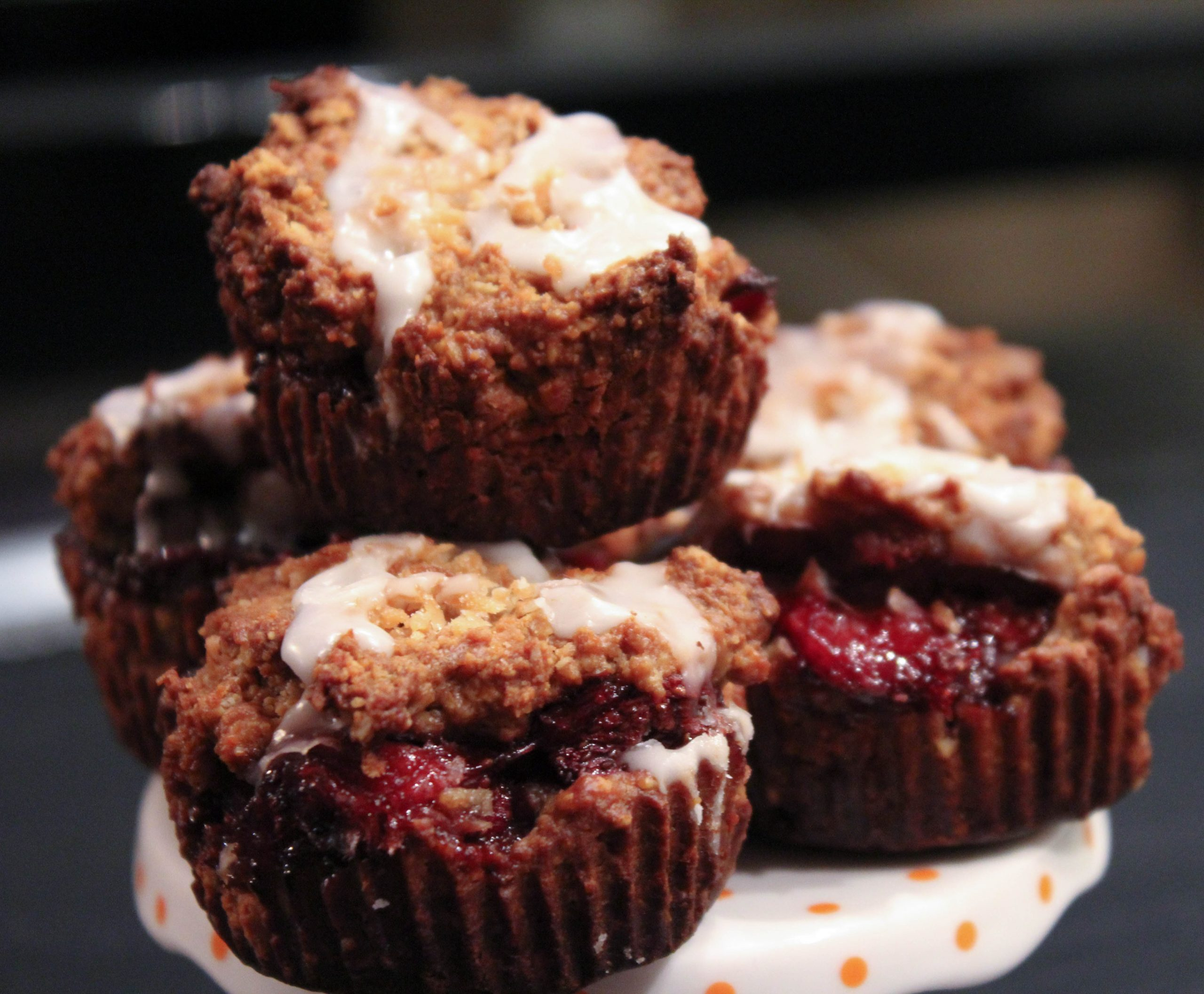 Strawberry Oatmeal Jam Cups