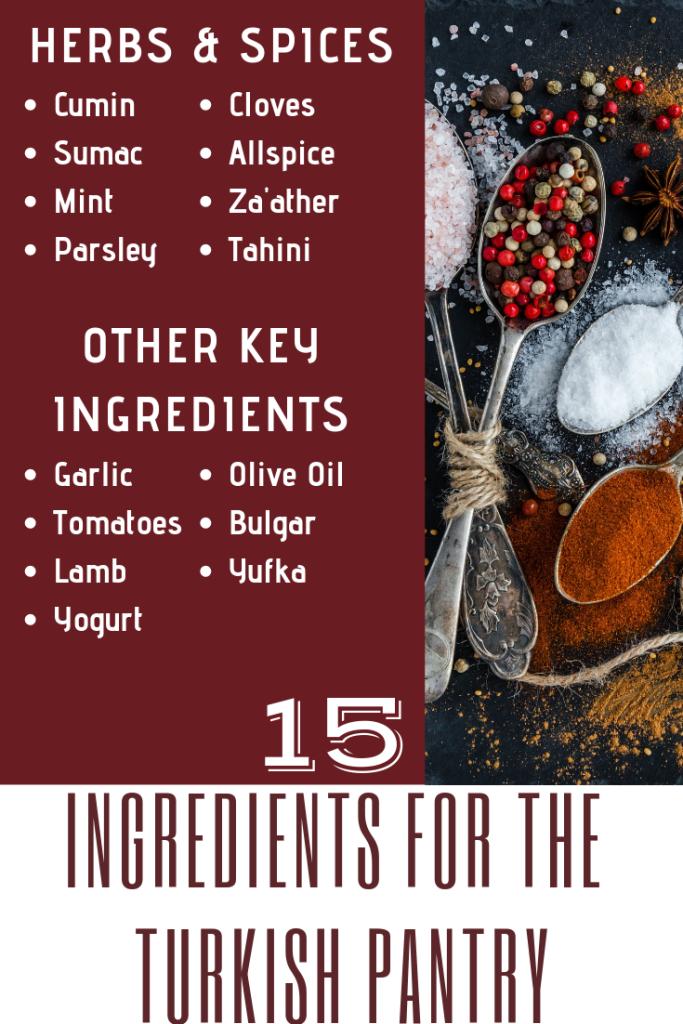 Ingredients for Turkish Food - Exploring Turkish Cuisine