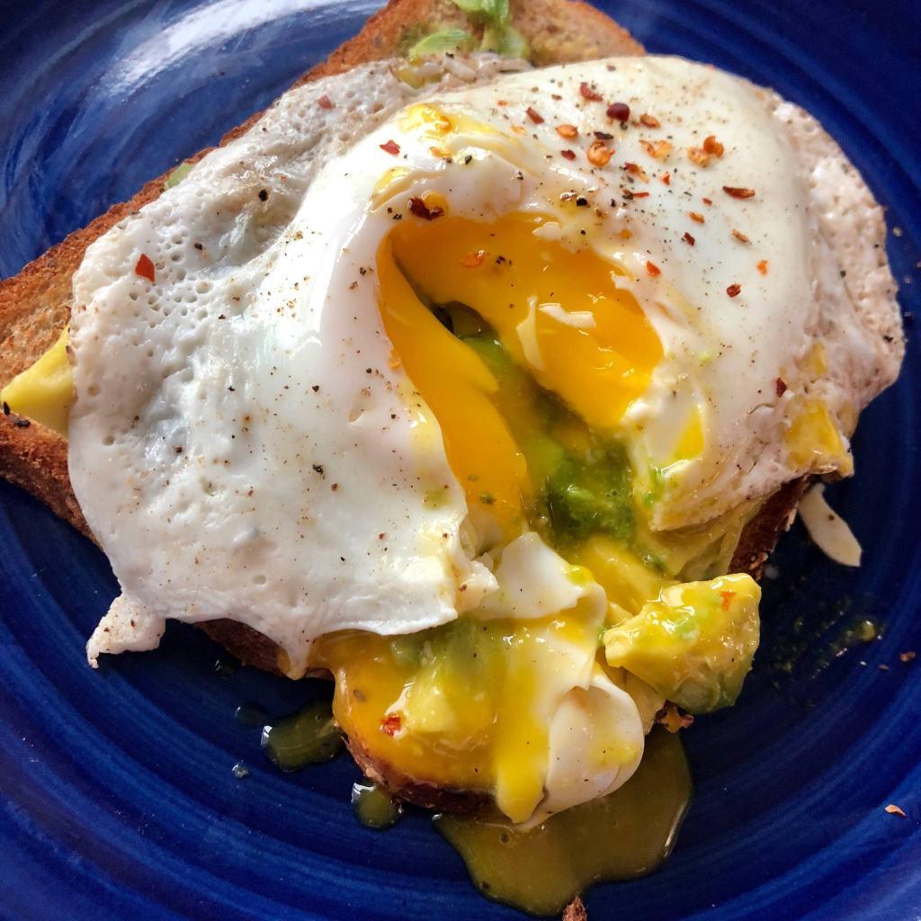 Avocado and egg toast - Millenials