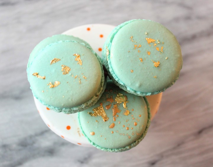 Decorate Macarons - Edible gold Leaf on French Macarons