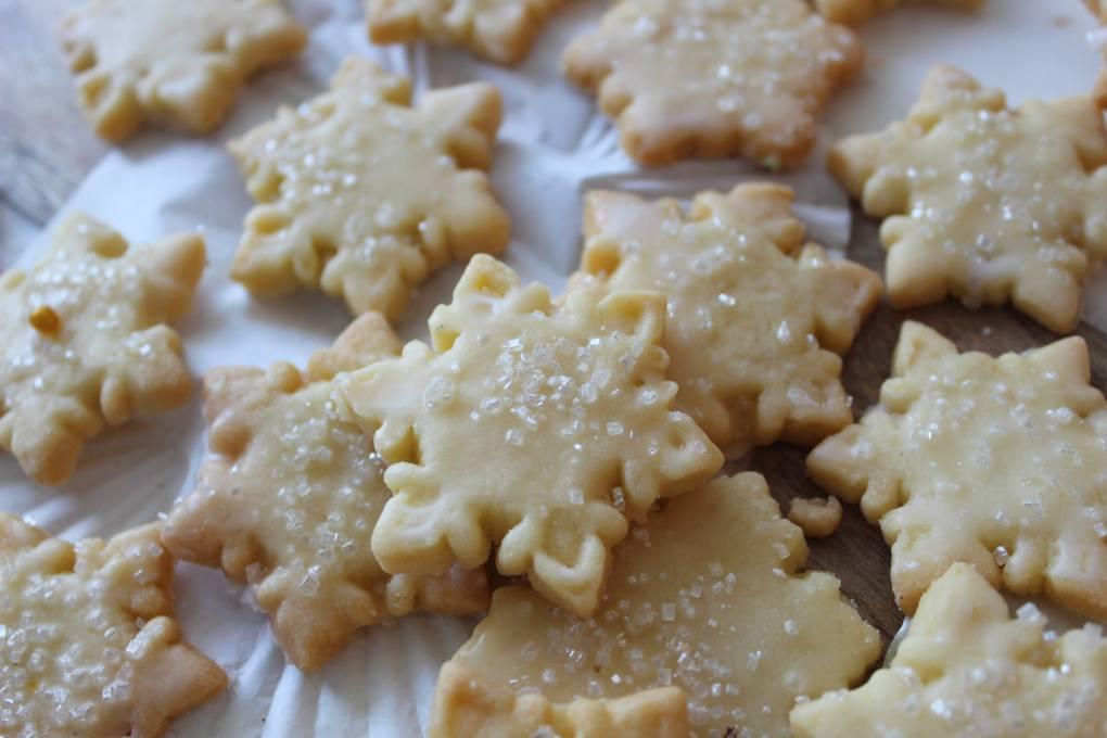 Mini Snowflake Sugar Cookies