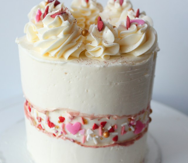 Sprinkle Fault Line Cake Valentine's Day