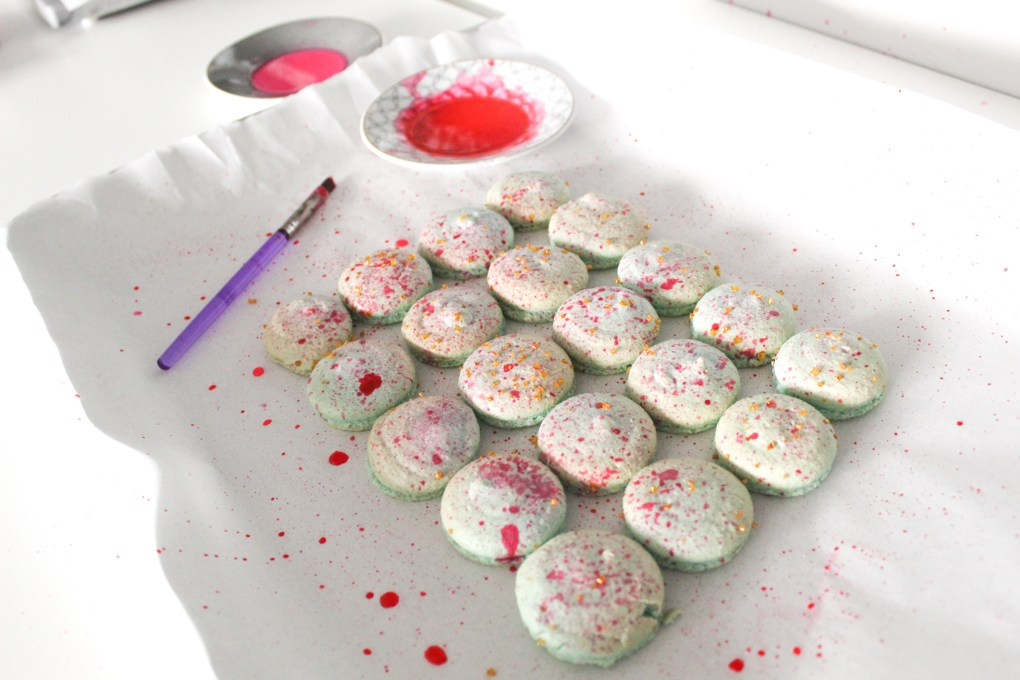 Paint Splatter Macarons