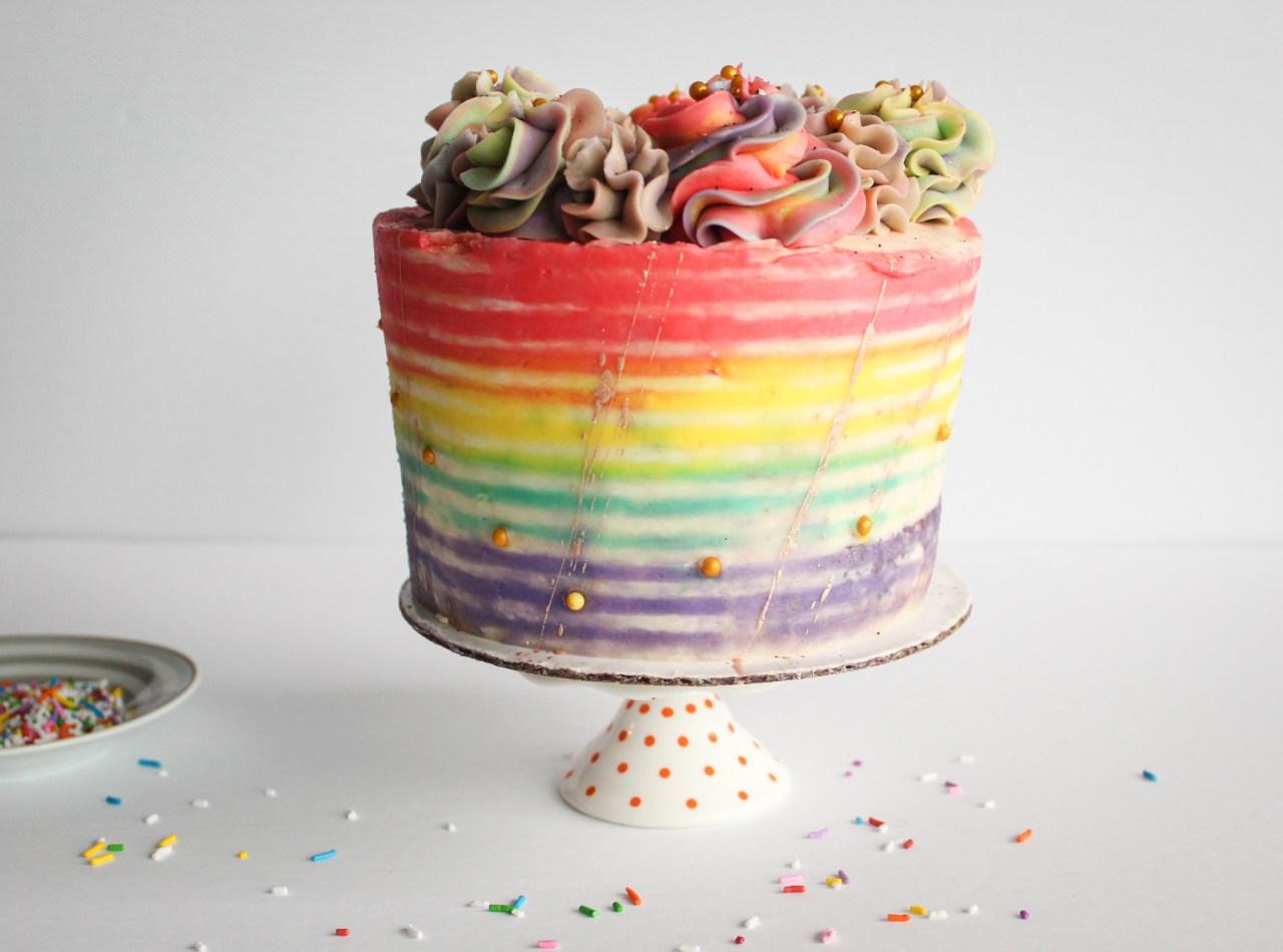 Rainbow Striped cake