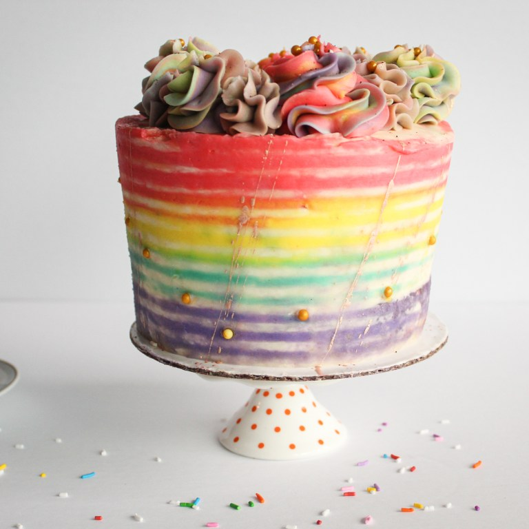 Rainbow Striped cake