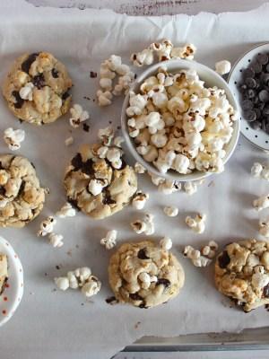Movie Night: Popcorn Chocolate Chip Cookies