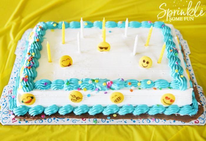 Easy Emoji Themed Ice Cream Cake Sprinkle Some Fun