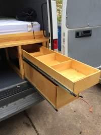Heavy duty storage drawers for Sprinter Vans - Sprinter Camper