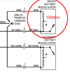 Resistor value to bypass seatbelt / airbag warning light