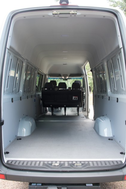 Brand new long wheelbase crew van ready for conversion