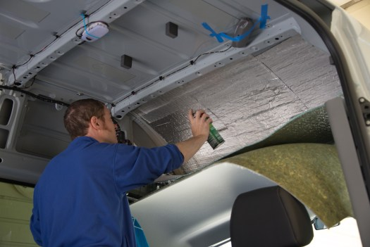 3M 90 spray holds the Thinsulate and Low-E insulation up against the metal.
