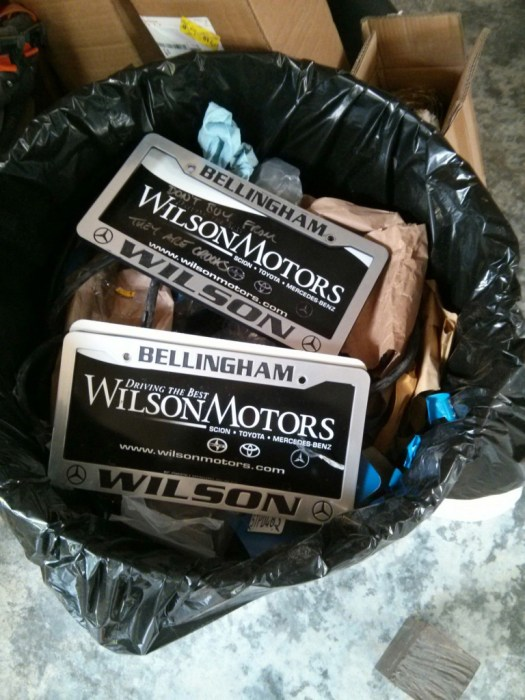 I couldn't wait to get rid of these Wilson motors plates