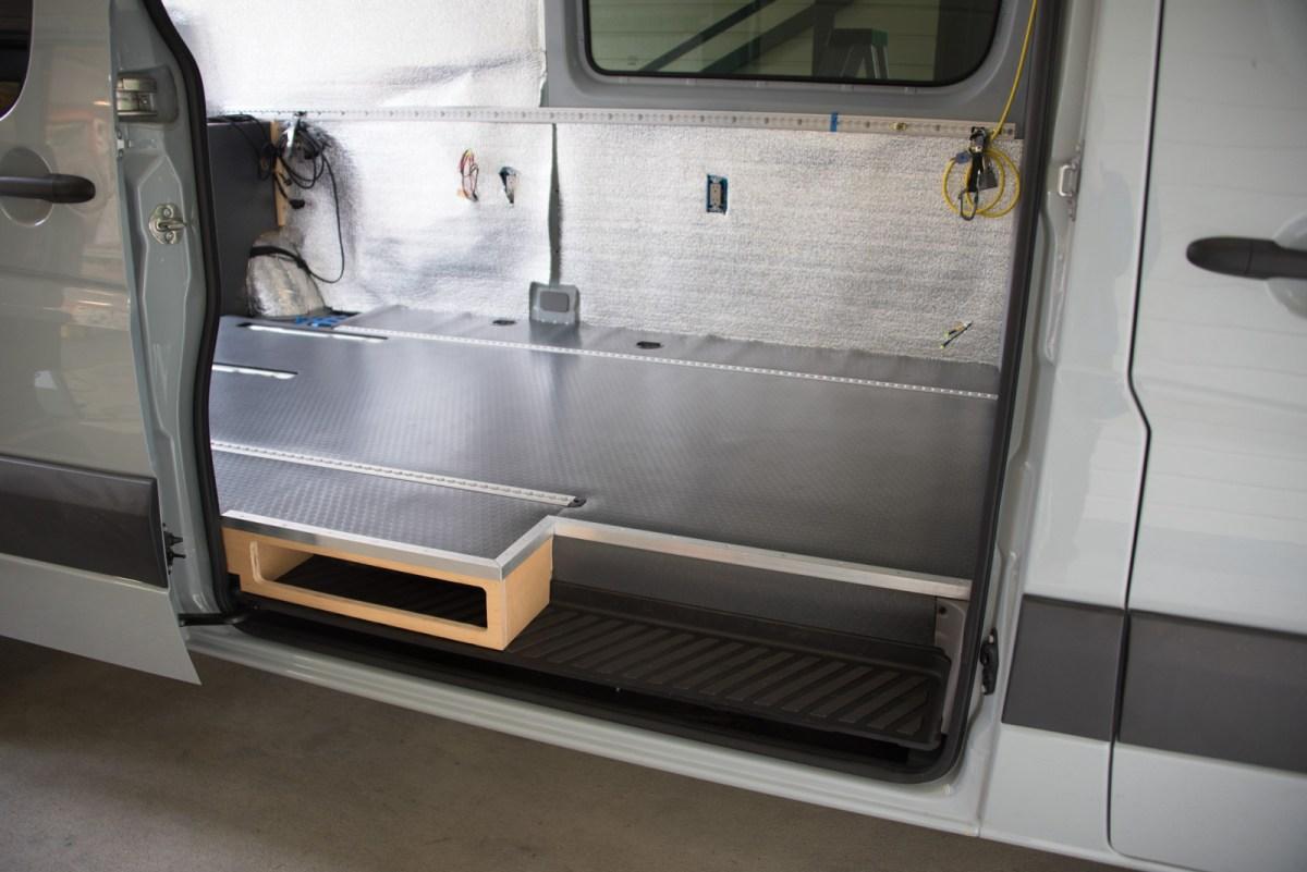 Adding Sound And Heat Insulation To The Floor Sprinter