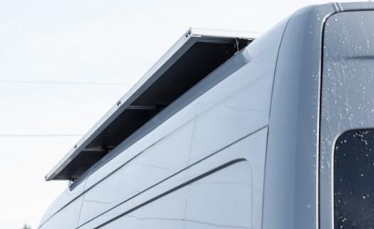 Solar panels with ABS fairing underneath