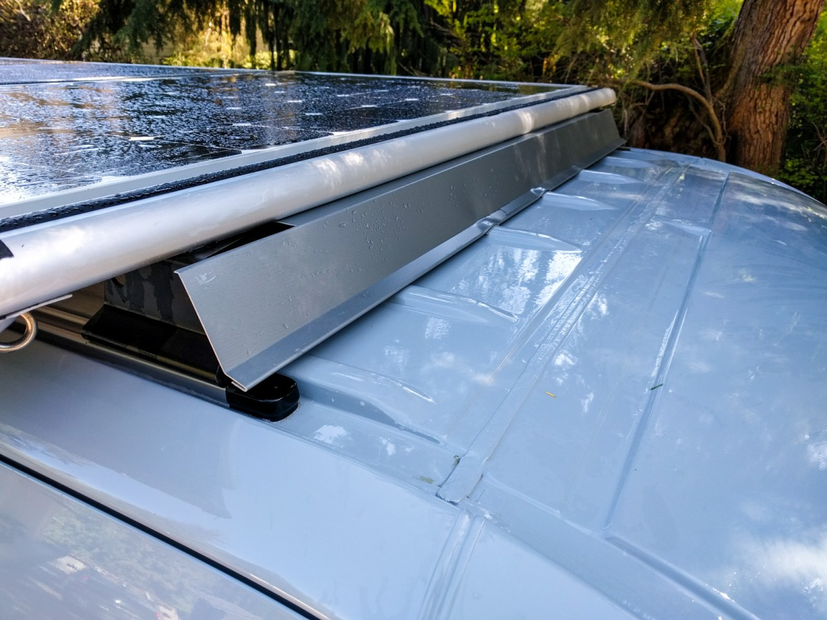 Front Fairing Reduces Roof Rack Noise Sprinter Adventure Van