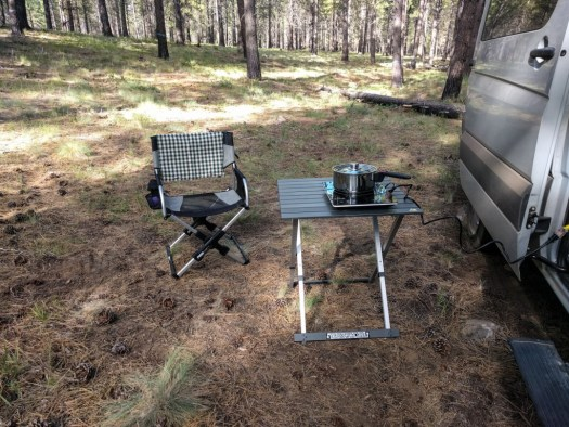 Pico Chair and GCI folding table