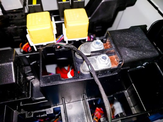 Aux battery relay under driver's seat