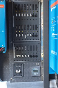 Distribution panel for the electrical system