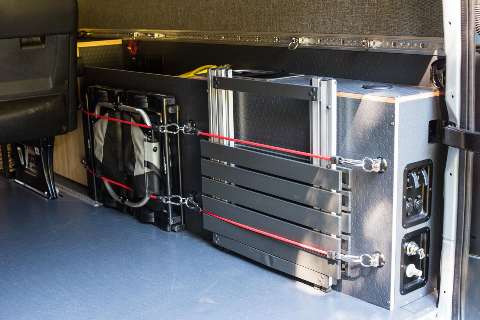 Water Tank Rear Shower Storage Area In Passenger Side Of Van