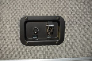 Dimmer and regular light switch in recessed metal plate