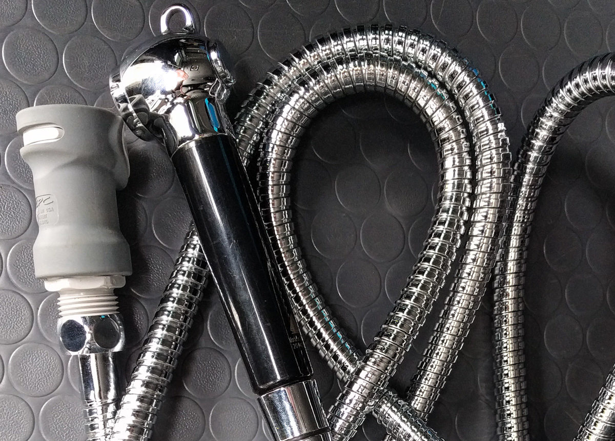 Shower hose and quick disconnect