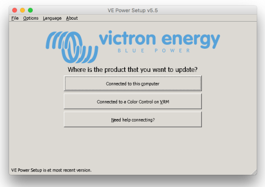 VE Power remote update selection