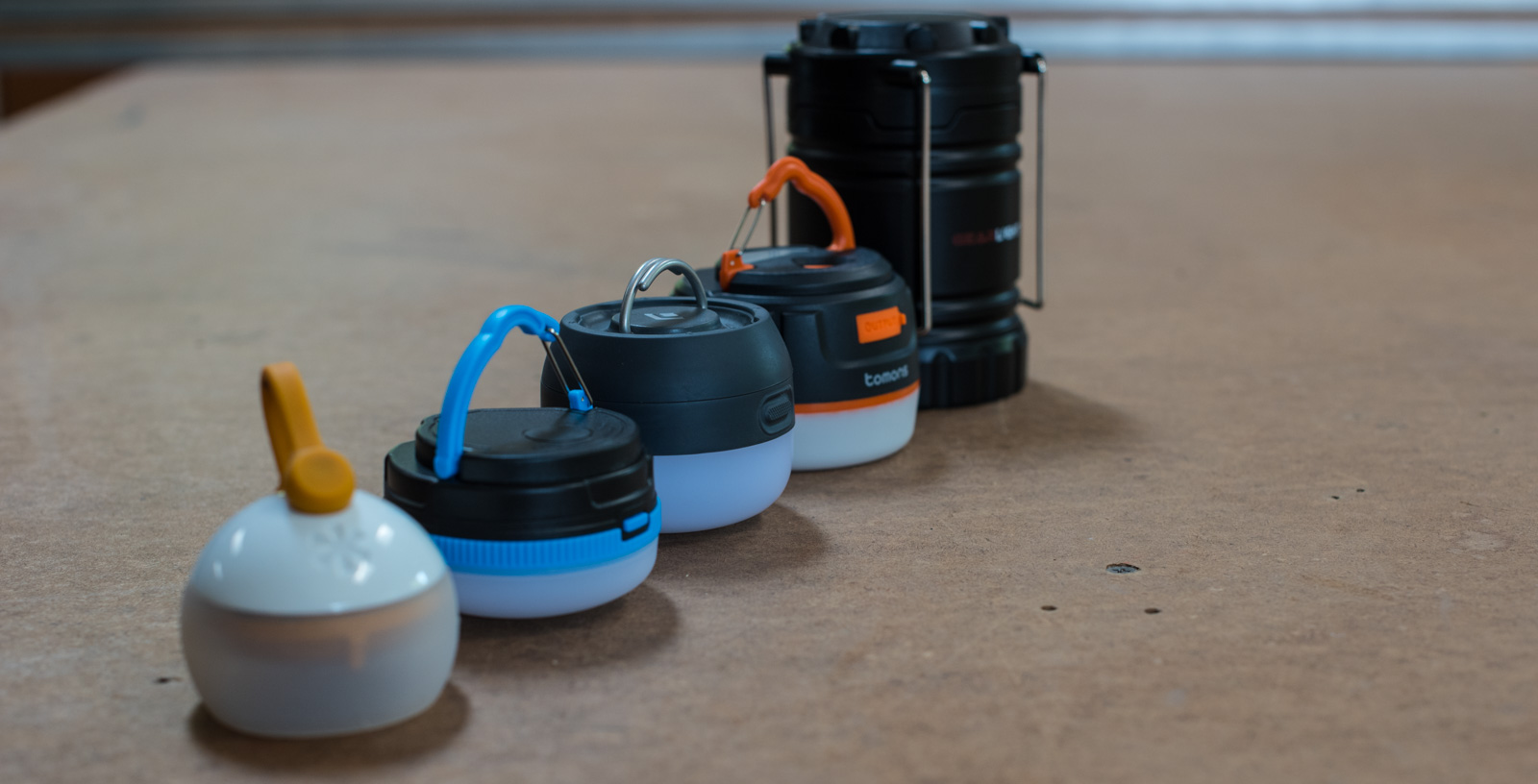 Five lanterns to test out in the van.