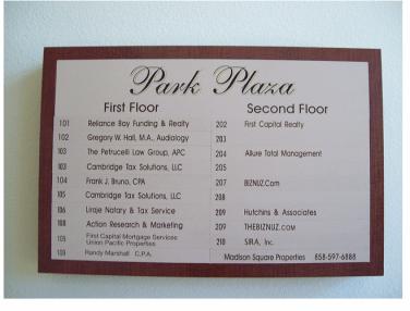 Madison - Park Plaza Directory