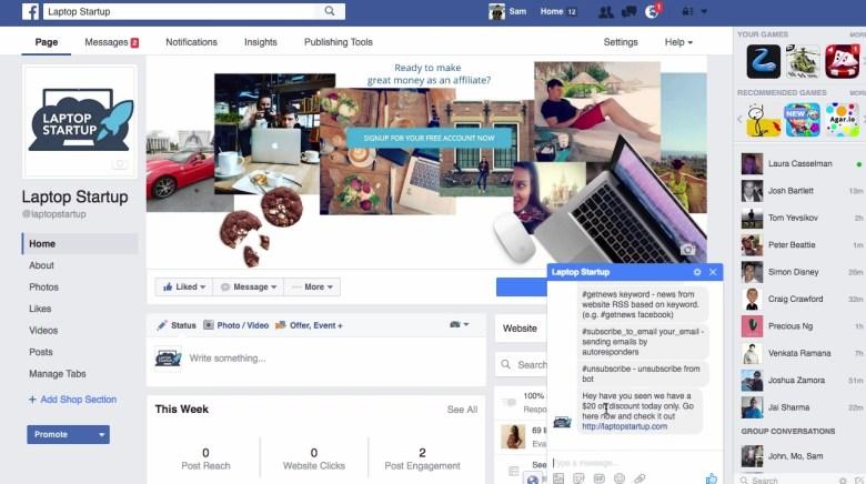 facebook messenger autoresponder