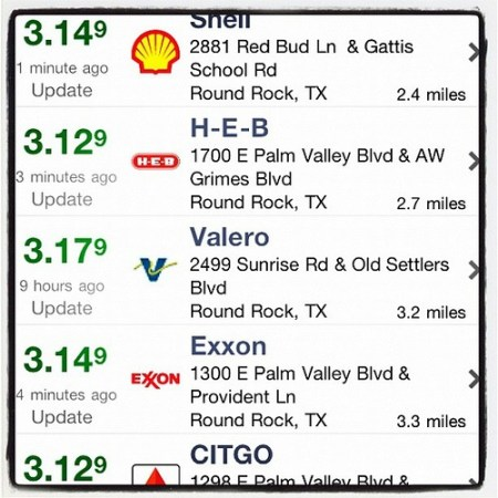 Gas Buddy is a fabulous iPhone app!