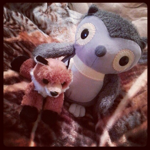 Today's new woodland friends. #toys #owls #forest #fox