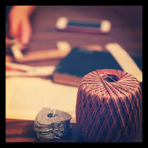 IKEA sparkle hearts, string, scissors, stapler... ipod to get ideas at pinterest ♡