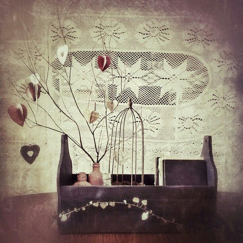 Finished Centerpiece. #valentine #crafting