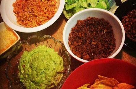 Tacos and Creamy Guacamole