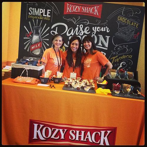 Love the @kozyshack booth! #orange #blogherfood