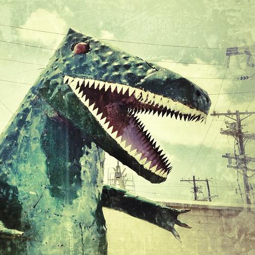 Terrible Lizard #Austin #dinosaur #art