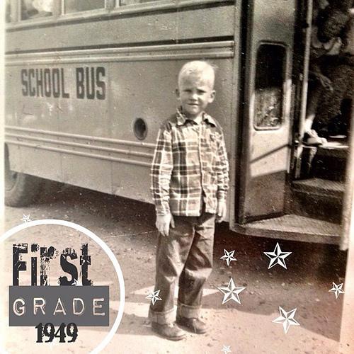 #1949 #oldphotos #schoolbus #igkids