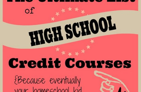The Ultimate List of High School Credit Courses